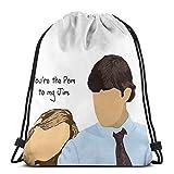 N / A Custom Pam To My Jim – Sac à dos avec cordon de serrage, sac de rangement, sac à dragées, sac de yoga, sac à cordon, sac de gymnastique léger pour femme et homme