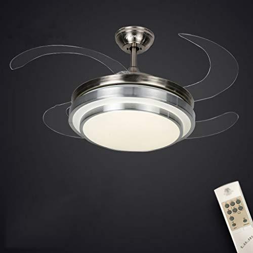 Plafondventilator, licht, eenvoudig, voor huishouden, stealth kandelaar, minimalistisch, modern, led, woonkamerlamp, ventilator, licht voor slaapkamer, muette, positief en wind, sterke motor, lang Télécommande Lumière Trichromatique