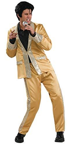 Goldener Anzug Elvis Kostüm 2teilig - Small