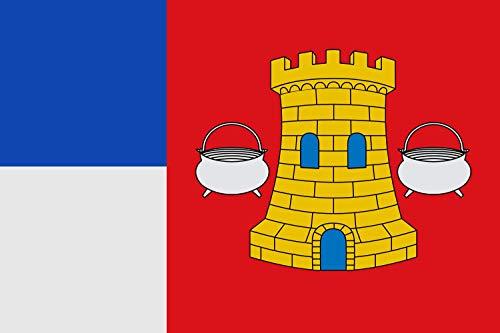 magFlags Bandera Large Municipal de Hornillos de Cerrato Palencia | Bandera Paisaje | 1.35m² | 90x150cm