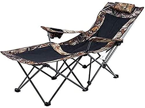 MUZIDP Tumbona de patio, tumbona de gravedad cero reclinable de camuflaje, tumbonas de jardín y sillas reclinables con tela sintética transpirable resistente al óxido