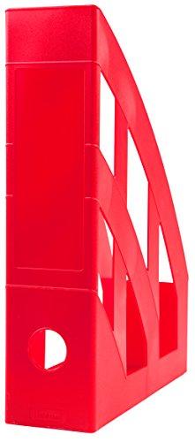 Idena 300846 - Stehsammler für DIN A4, aus Kunststoff, rot, 1 Stück