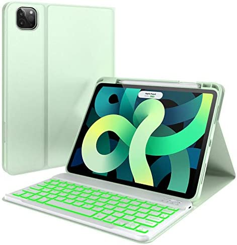iPad Case with Keyboard 7 Color Backlit Detachable Wireless Keyboard Pencil Holder Folio Cover product image