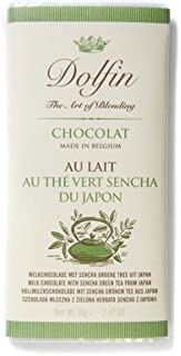 Dolfin Belgium Chocolate Bar - Milk with Sencha Green Tea (2.5 ounce)