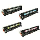 TonerBoss Remanufactured Toner Cartridge Replacement for HP CC530A ( Black,Cyan,Magenta,Yellow , 4-Pack )