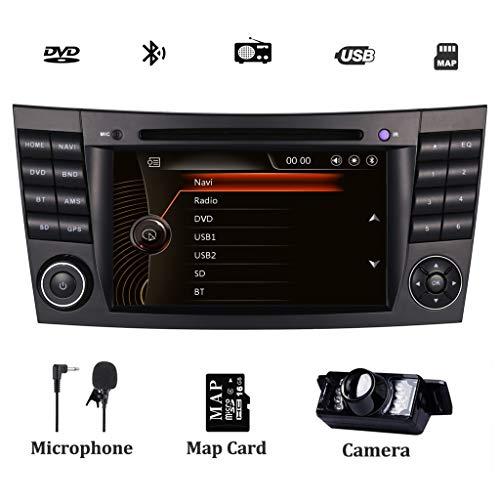 Autoradio DAB+ (eingebaut) System für Mercedes-Benz W211 E200 E220 E240 E270 E280 CLS W219 Navi mit DVD-Player GPS Navigation Touchscreen Lenkradsteuerung Bluetooth 1080P Video