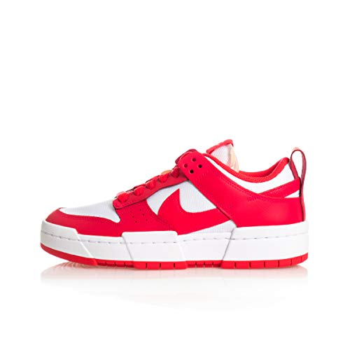 Nike W Dunk Low Disrupt, Scarpe da Basket Donna, Siren Red/Siren Red-White, 38 EU