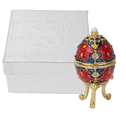 Caja de la baratija del Vintage, joyero en Forma de Huevo de Pascua esmaltado para la decoración casera del Organizador de Las Mujeres
