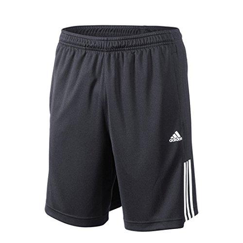 adidas Base3S Short KN - Pantalón Corto para Hombre, Color Negro/Blanco, Talla S