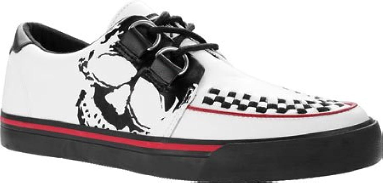 T.U.K. Original Footwear Unisex A9183 Leather Skull Print Sneaker