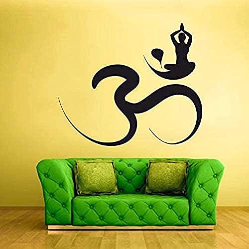 TJVXN Calcomanía de Pared con diseño de Vinilo, Adhesivo para Pared, Sala de Estar, decoración del hogar, Yoga, Estudio, símbolo, calcomanía, Mural artístico, 57x65 cm
