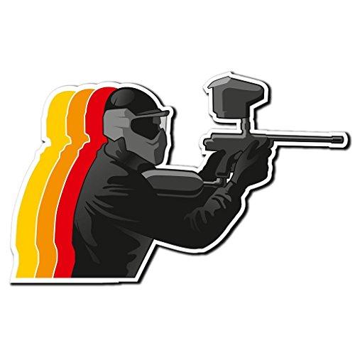 2 x 15cm/150 mm Pistola de bolas de pintura Paintball Etiqueta autoadhesiva de vinilo adhesivo portátil de viaje equipaje signo coche divertido #4034