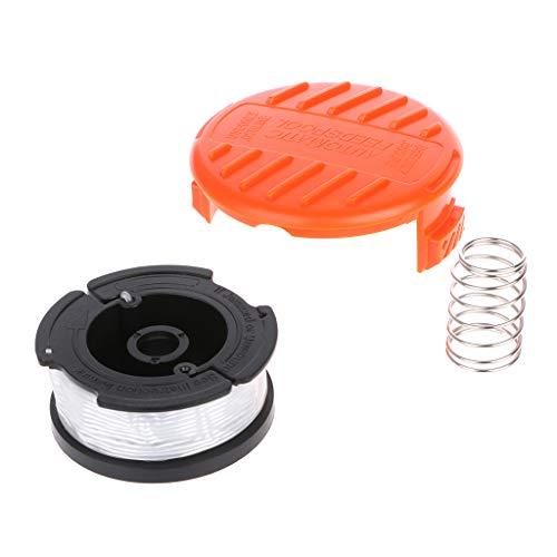 JOYKK Juego de Tapas de Repuesto para Carrete de Recambio de la línea de alimentación automática Profesional Black & Decker - Blanco
