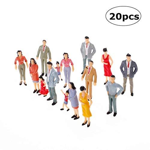 Veroda 1: 25 Scale Model Figuren Zug Passagiere Modellierung Set bunt gestrichenen Packung von 20
