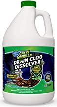Liquid Clog Remover By Green Gobbler - Drain, Toilet Clog Remover, DISSOLVE Hair & Grease From Clogged Toilets, Sinks And Drains - Drain Cleaner, Works Within Minutes - 1 Gallon