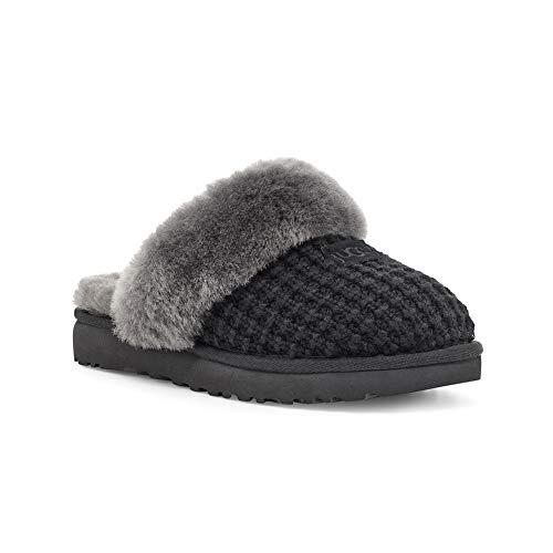 UGG Female Cozy Slipper, Black, 7 (UK)