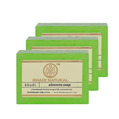 Khadi Aloevera handgemachte Seife - 375 g - Packung mit 3