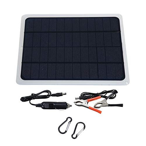 Cabilock Cargador de Batería Solar Mantenedor 20W Usb Panel Solar Cargador por...