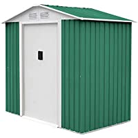 Gardiun KIS12140 - Caseta Metálica Yorkshire - 2,43 m² Exterior 121x201x190 cm Acero Galvanizado Verde