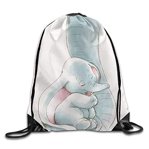 Dumbo Being Held by Her Mother's Trunk - Mochila con cordón para viaje, gimnasio, deportes al aire libre, portátil, con cordón, puerto de haz, mochila para chica, chico, mujer, mujer