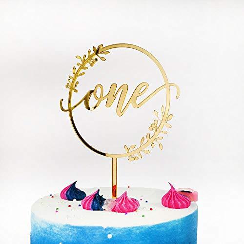 Yoin One Cake Topper Voor Kind 1e Gelukkige Verjaardag Party Decor Kids Meisjes Jongens Baby Douche Verjaardag Decoratie benodigdheden