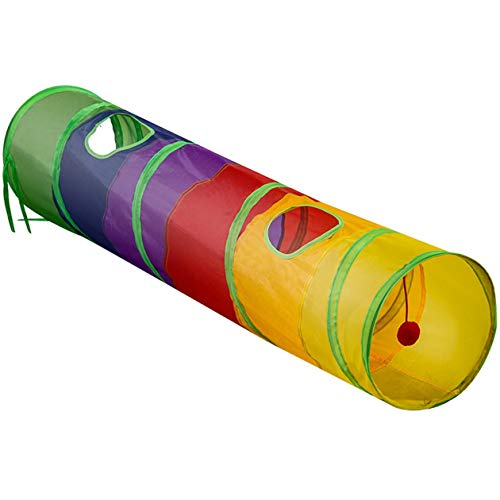 Nowakk Faltbare Hunde Hunde Katzentunnel Kaninchen Training Spielzeug Spiel Tunnel Rohr Praktische tragbare lustige Haustier Spielzeug - bunt