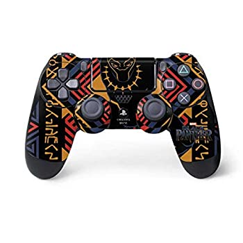 Skinit Decal Gaming Skin for PS4 Controller - Officially Licensed Marvel/Disney Black Panther Tribal Print Design