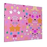JIANSHAN Pintura al óleo con estrellas rosadas y lunas, para decoración de pared, dormitorio, sala de estar, oficina, 40,6 x 50,8 cm (sin marco)