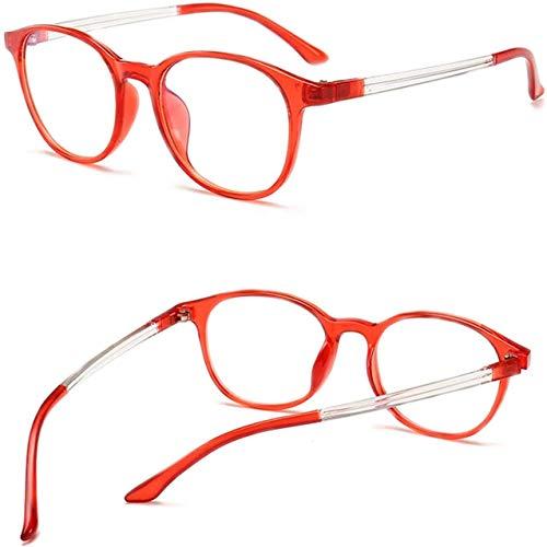 N\C Gafas Anti Luz Azul Montura de Gafas Mujer Protección Ocular Anteojos Anti Radiación Hombres Anti Rayos Azules Sin Grado Gafas Planas, 4 Colores, con Estuche de Gafas Exquisito