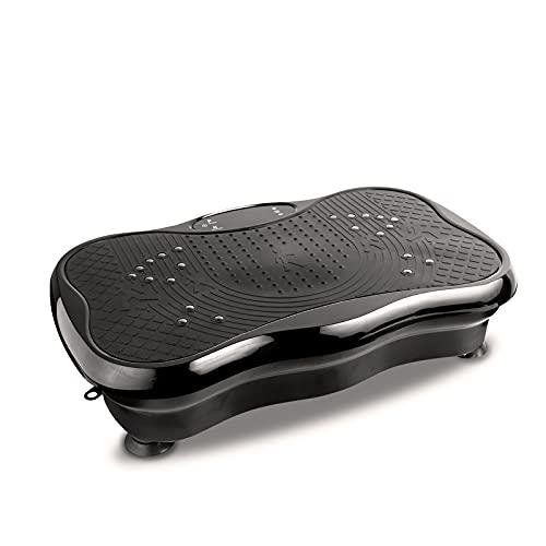 iMeshbean Vibrationsplatte 3D Vibrationstrainer Vibration Shaper Platte mit LCD Display Ganzkörper Trainingsgerät rutschfest, Fitnessbänder, Vibrationsmaschine Maximal belastung 150 kg