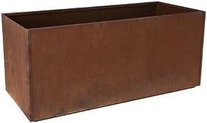 """Nice Planter Corten Steel Trough, 20"""" x 46"""" x 20"""""""