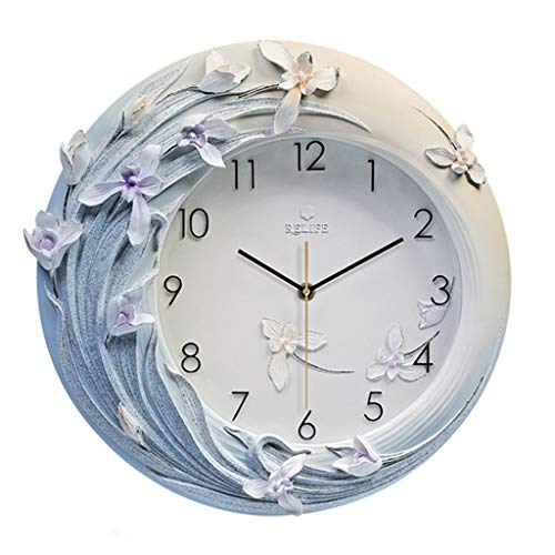 LC2019 Wanduhr 3D Stereo Uhr Schlafzimmer Silent Clock Restaurant Wanduhr Runde Uhr Silent On Time (Farbe: Gesamtgröße 42 x 40,5 cm)