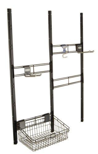 Suncast Bracket, Hooks, Basket Kit-Closet System for Mounting in Suncast Alpine Sheds, Black, TRV158707 -  BMSA3B