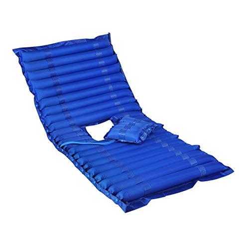 XJZHAN Medizinische aufblasbare Matratze-Druckpumpe-Antidekubitus-Luftmatratze-medizinischer geduldiger Haupt-Altenpflege-Luftbett,Blue,200x90cm