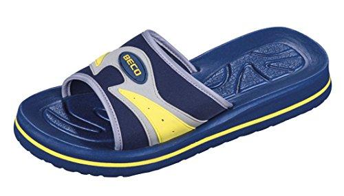 BECO Beermann GmbH & Co. KG Unisex-Erwachsene Fußbettpantoletten-9021 Pantoletten, Blau (Blau 6), 44 EU