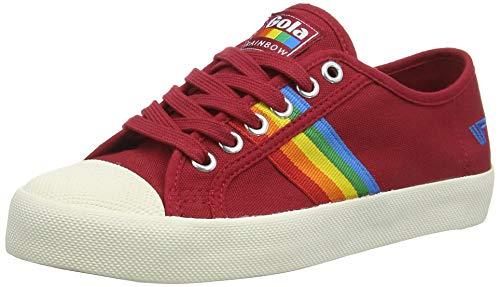 Gola Damen Coaster Rainbow Sneaker, Rot (DEEP RED/Multi RZ), 38 EU