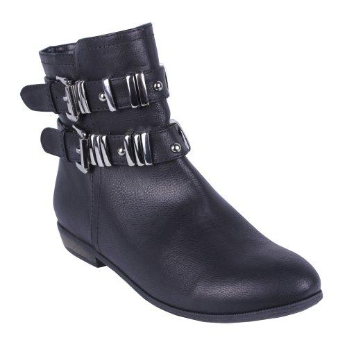 dbdk ankle boots DBDK Vintada-1 Women's Almond Toe Flat Bottom Ankle Bootie