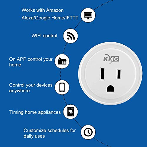 Smart Plug, KMC WIFI MiNi Outle Works with Alexa, Google Home