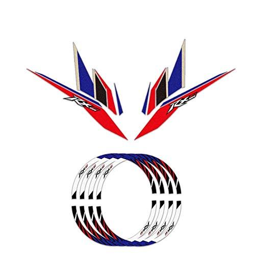 Para Honda RX125 RX 125 Pegatinas de automóviles modificadas Pegatinas Anti-desgaste Pegatinas de Rueda Hub Pegatinas RIM Pegatinas Decorativas Reflectantes (Color : A 1 set)