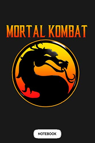 Mortal Kombat Logo Notebook: Journal, 6x9 120 Pages, Diary, Matte Finish Cover, Planner, Lined College Ruled Paper