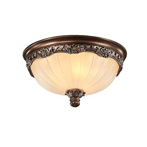 Luz de Techo de Montaje en Color, Accesorio de Luz Tallada 3-luz, Accesorio de Luz Retro con Lámpara de Vidrio Helada Sombra para el Pasillo del Dormitorio (tamaño : B 45 * 20cm/18 * 8 (E27*4))