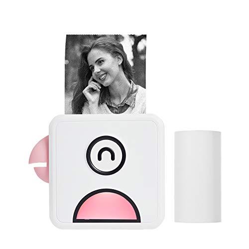 Aibecy Poooli L1 Mini Fotodrucker 200dpi Thermodrucker BT Wireless Receipt Label Sticker Maker für Arbeitsplan Memo Study Notes Listen Journaldruck Kompatibel mit Android iOS Smartphone