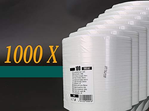 Trend Jetables Soupe Bol 500 ML 100ST. – 1000ST. jetables PP Menu Coque Rigide, 1000 Stück
