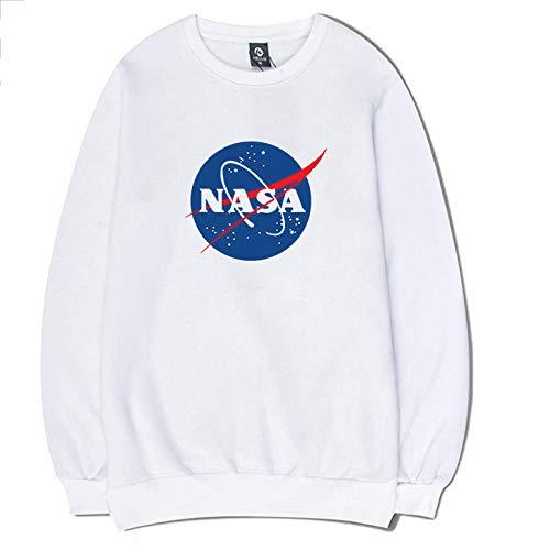 YX Hoodie Sweatshirt NASA Katoen Plus Fluwelen Bedrukte Trui Trui Lange mouwen T-shirt