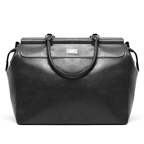 Misako Bolsa Cuby Fin de Semana | Bolso Grande para Fin de Semana y Viajes, Diseño Elegante, Bandolera Regulable, Color Negre, 27x46x38 cm