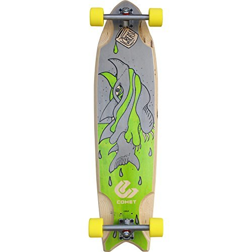 Comet Skateboards Grease Shark Complete Longboard - 9.875 x 38 by Comet Skateboards