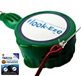 Hook-Eze New Larger Model Quick Fishing Knot Tool (Green)  Hook Tying & Safety Device Tie Hooks Fast  Smart Hook Cover Travel Safely Fully Rigged. Multi Function Fishing Device.