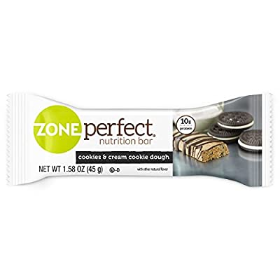 ZonePerfect Nutrition Snack Bars, Cookies & Cream Cookie Dough, 1.58 oz, (12 Count)