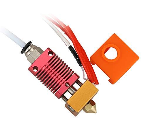 3DINNOVATIONS Ender 3 CR-10/CR-10S Hotend Assembled, 24V 40W MK8 Extruder Kit for Ender 3 PRO, with Aluminum Heating Block 1.75mm, 0.4mm Nozzle.(Ender3 Hot End 24V40W)