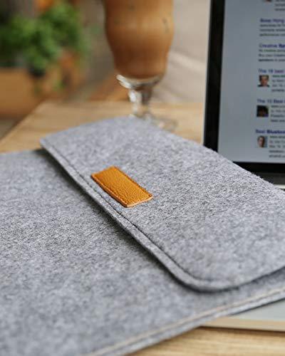 Inateck 13,3 Zoll Filz Laptop Hülle Tasche Kompatibel mit 13 Zoll MacBook Air 2012-2017/MacBook Pro Retina 2012-2015/12,9 Zoll iPad Pro 2015-2017